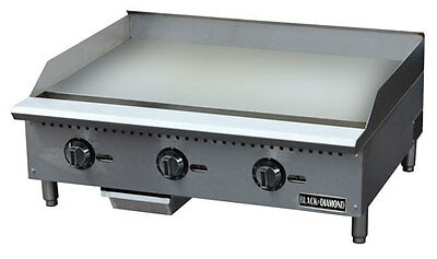Stainless Steel Thermostatic Gas Griddle 36″