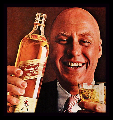 1969 Johnnie Walker Red Whiskey Ad - Retro Vintage Liquor Advertising Page