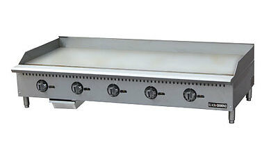 Stainless Steel Thermostatic Gas Griddle 60″