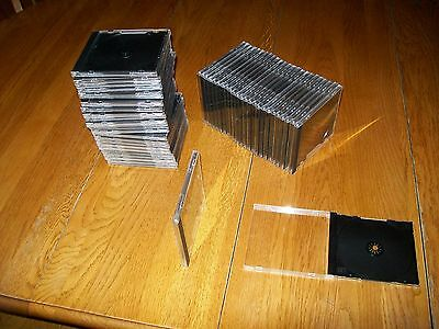 CD DVD Standard Thickness Jewel Cases,  Box of 50