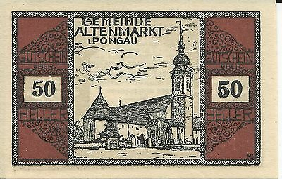 50 Heller Austria from the 1920s uncirculated