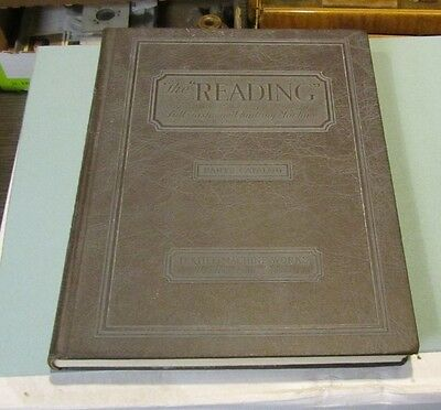1929 Reading Full Fashioned Knitting Machine Parts Catalog Textile Machine Works