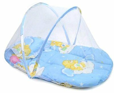 Baby Infant Mosquito Insect Net Mattress for Cradle Bed Portable with Pillow -