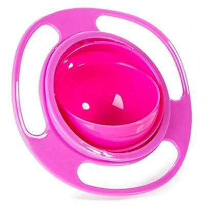 Aomeiter Gyro Bowl- Spill Resistant Kids Gyroscopic Bowl with Lid Non Spill