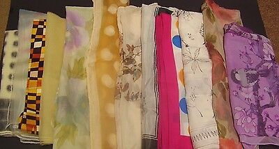 Women's Head Scarves Lot of 12    Some Vintage  GUC+