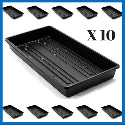 1020 Plant Trays With Holes, 10 pack- Seedling Starter Trays- Free Shipping
