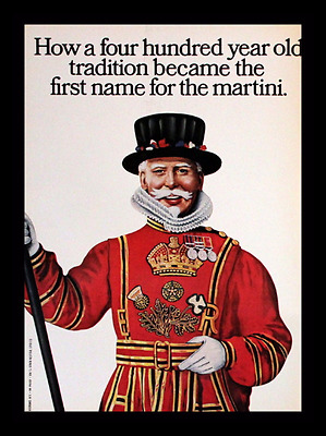 1969 Beefeater Gin Ad - Double Page - Retro Vintage Liquor Advertising Page