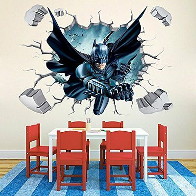 Batman Through-Wall Stickers With Decor Decal Art Removable Vinyl Home Art