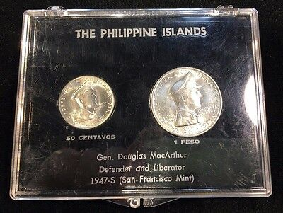 1947-S Philippine Islands Gen. Douglas MacArthur Defender & Liberator Coin Set