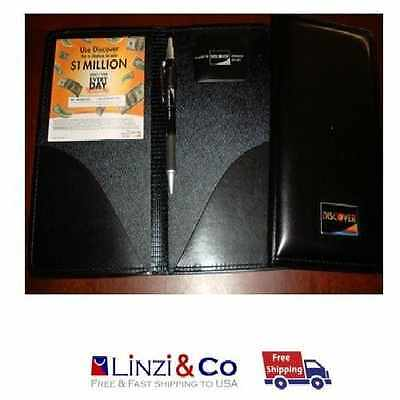 Waiter book Restaurant Waitstaff Waiter Double Panel Checkbook Black Leather