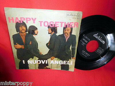 I NUOVI ANGELI  Happy Tohether (The Turtles) 45rpm 7' + PS 1967 ITALY BEAT EX-