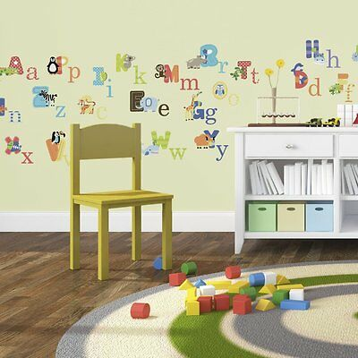 Animal Alphabet ABC's Classroom Decoration Preschool Wall Sticker Decals Nursery