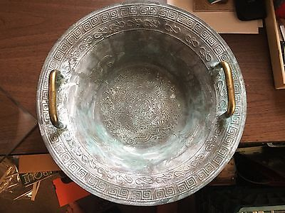 Brass Chinese Temple Bowl