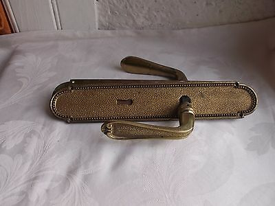 French bronze/ brass door plate handle nicely vintage