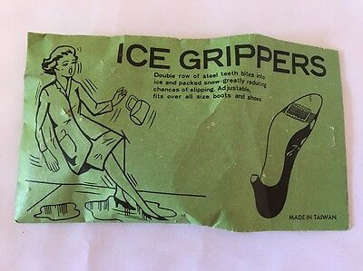 Vintage Ice Grippers For Women's Shoes New In Original Package