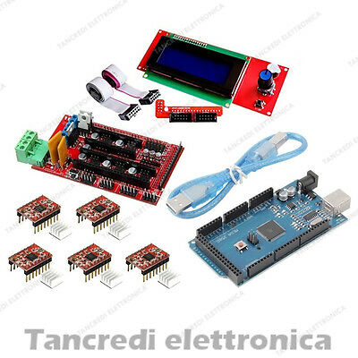 Kit ramps 1.4 + smart controller lcd 20x4 2004 + arduino mega 2560 R3 + 5x a4988