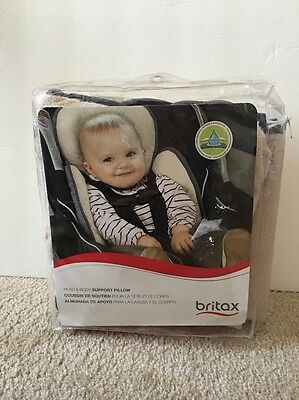 Britax Head and Body Support Pillow...Iron/Gray...New In Distressed Package