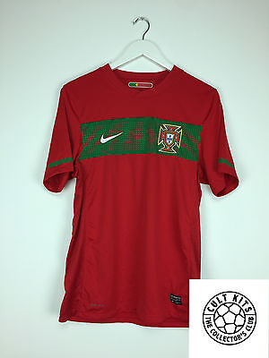 PORTUGAL 10/11 Home Football Shirt (S) Soccer Jersey World Cup