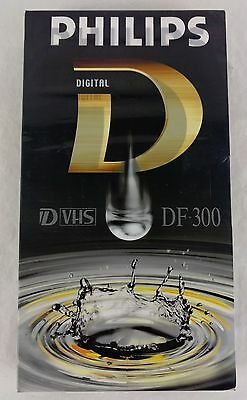 Philips Digital D-VHS S-VHS DF-300 Blank Video Tape New & Sealed