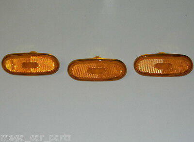3 x MERCEDES SPRINTER AND VW CRAFTER 06-UP SIDE MARKER LIGHT LAMP REFLECTOR LENS