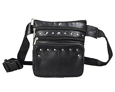Leather Fanny Pack Black Leather Waist Bag By Bayfield Bags-Pouch Hip Bag