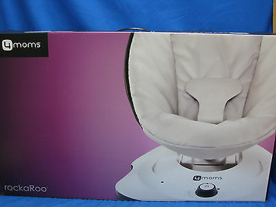 New 4moms rockaRoo Baby Swing Glider Baby Rocker Grey Classic SEALED