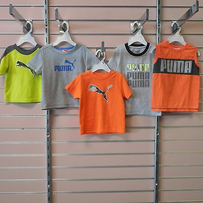 Puma Infant & Toddler Boys Size 12 & 18 Mth. & 3T Assorted Short Sleeve Shirts