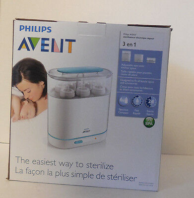 Philips AVENT 3-in-1 Electric Steam Sterilizer New in Factory Box