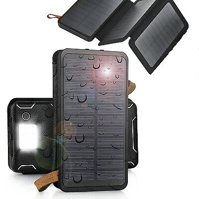 500000mAh Solar Panel External Battery Charger Power Bank For Cell Phone Tablets