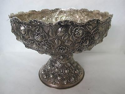 Monumental Museum Quality Signed Mh Sterling Kirk Baltimore Repousse Punch Bowl
