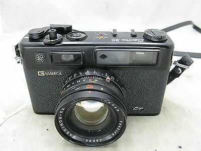 Yashica Electro 35 G GT Black Rangefinder with 45mm f1.7 lens Works ID 7320