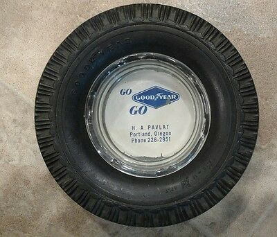 Nice Vintage GoodYear GO GO Advertising Tire Ashtray Good Year