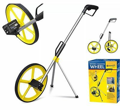 Distance Measuring Wheel With Stand Foldable In Bag Surveyors Road Land Builders