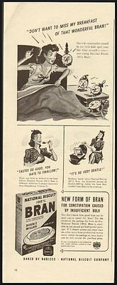National Biscuit !00% Bran Baked by Nabisco Vintage Ad 1941 (112211)
