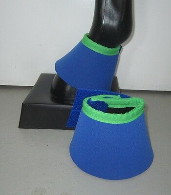 Horse Bell Boots Royal blue & Lime green AUSTRALIAN MADE Your choice of size
