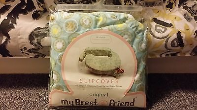 My Brest Friend Breastfeeding Breast Nursing Slipcover Sunburst Blue Green NEW