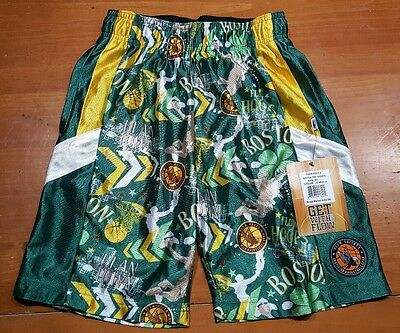 Flow Society Hoops Shorts BOSTON Basketball Youth Kids SIZE XS EXTRA SMALL NWT