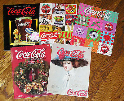 Group of 5 Older Coca Cola Catalogs from the 90's - LN