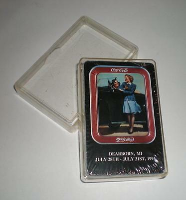 """New Never Opened Coca Cola """"dearborn, Mi 1993"""" Coke Deck Of Playing Cards"""