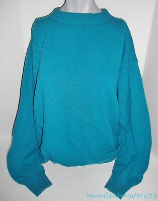 PATAGONIA VTG 90s TURQUOISE WOOL MOCK NECK WINTER JUMPER PULLOVER SWEATER -XL-