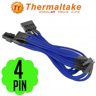 Thermaltake Individually Sleeved 4Pin Peripheral Power Motherboard Cable Fan DVD