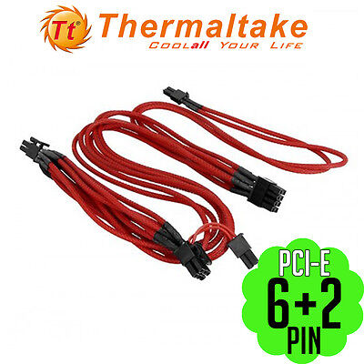 Thermaltake Individually Sleeved 6+2Pin PCI-E Power Motherboard Cable Graphics