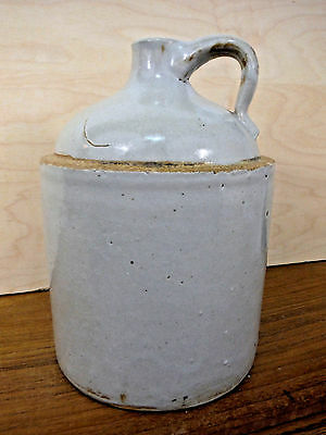 ANTIQUE PRIMITIVE Stoneware Shoulder JUG CROCK Moonshine Hillbilly USA Gray EUC