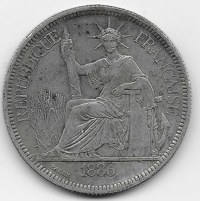 French Indo-china Piastre, 1886 A