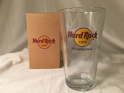 Hard Rock Cafe Pint Beer Cocktail Glass Collectible - Philadelphia - Excellent!