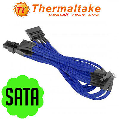 Thermaltake Individually Sleeved SATA Power Motherboard Cable HDD ODD SSD DVD PC