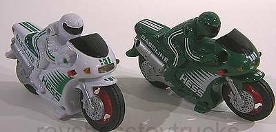 HESS Gas Gasoline 2004 Anniversary Edition White and Green Motorcycles Toy
