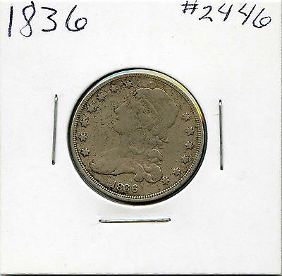 1836 25C Capped Bust Silver Quarter. Circulated. Lot #2103