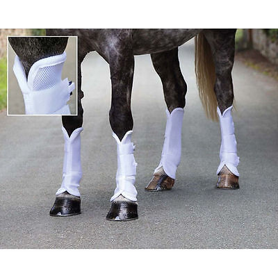 Shires Airflow Fly Boots -  White - Cob, Horse, or Pony