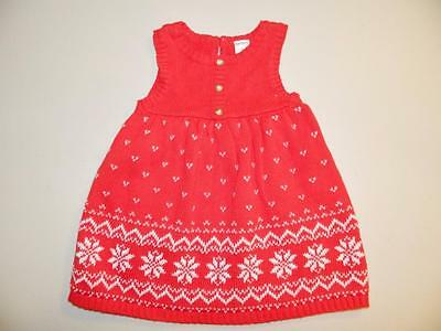 Carter's Baby Girls Sleeveless Dress Red NWT Size 6 M MSRP $40.00